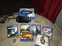 PS vita with 7 games