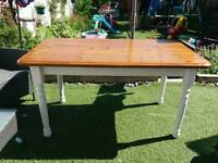 BEAUTIFUL SHABBY CHIC FARMHOUSE STYLE KITCHEN/ DINING TABLE