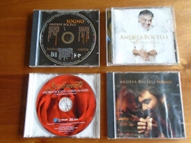 4 ANDREA BOCELLI MUSIC CDs PLUS OTHER MUSIC CD's, PLUS a JVC STEREO SYSTEM and OTHER CD's