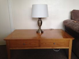 Wall mirror, table lamp, coffee table for sale , all three good condition, £60 for the 3 , O N O
