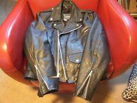 leather motorcycle jacket (ladies)