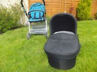 Mamas and Papas pushchair and carry cot urbo