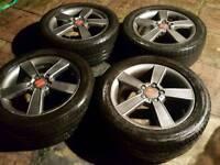 "Seat Leon FR Sport 17"" alloys - 225/45 - perfect condition - 5 x 112 - £220"