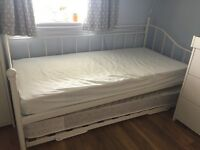 Day bed with trundle and two mattresses