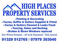 painting and decorating service High Places Property Services 07979303040