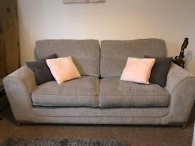 Sofa (3 seater, cuddle sofa and foot pouffe)