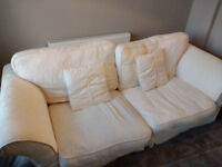 4 Seater White Sofa