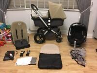 Bugaboo Cameleon travel system pram set grey sand and maxi cosi car seat