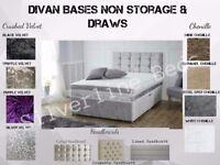 Luxury & Stylish Divan Bases, Headboard+ Mattresses -