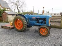 fordson major tractor and topper