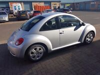 VW Beetle 1.6 Luna. 2010 60 Plate. Silver. Low Mileage. Full Service History.