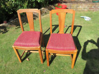 Vintage Dining chairs (pair)