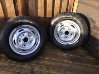 Ford transit mk6/7 winter tyres on steel rims