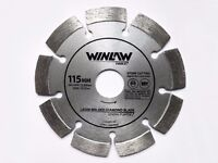 Laser Welded Diamond Saw blades - 115/230/300mm - Concrete, stone, masonry, marble