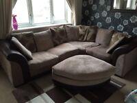 Large corner sofa bed..