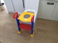 Child's Toilet Trainer Seat With Steps