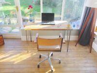 Industrial Reclaimed Wood Desk ....Vintage style