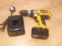 Dewalt Cordless Drill with Hammer and screwdriver action