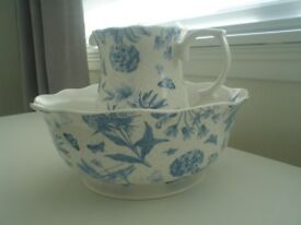 FINE CHINA JUG AND BOWL IN AS NEW CONDITION