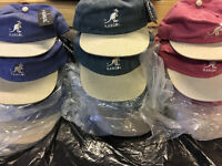 100-NEW KIDS KANGOL BASEBALL CAPS-3 COLOURS,JOBLOT £1.20 EACH