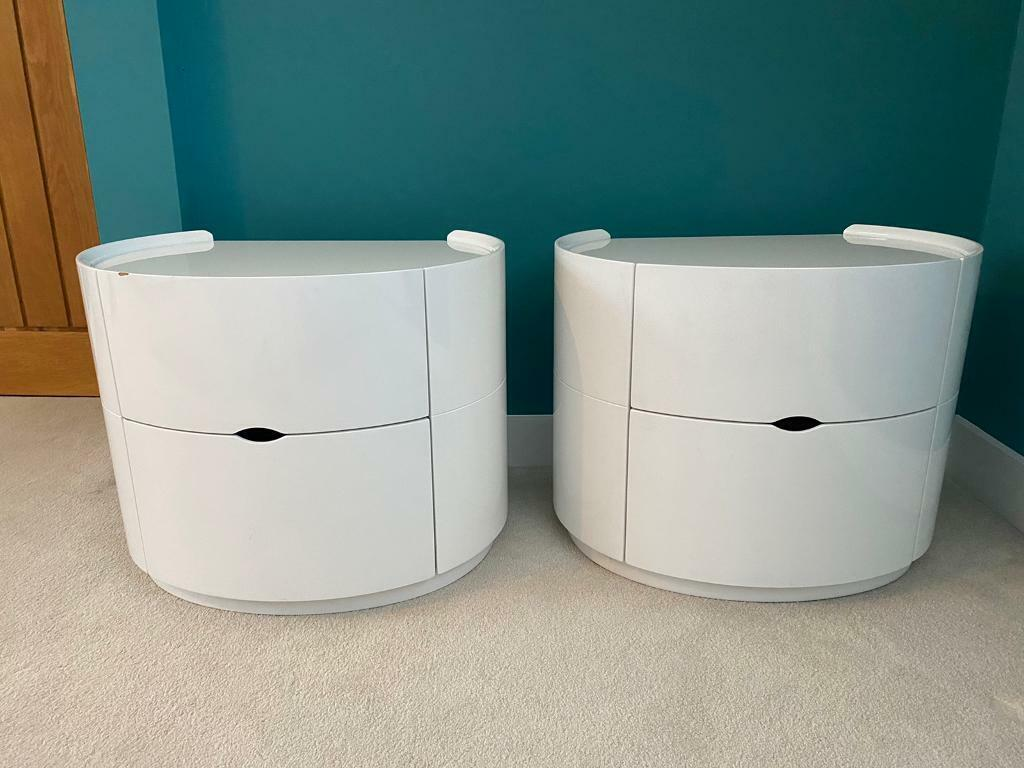 White Gloss Contemporary Bedside Tables In Southampton Hampshire Gumtree