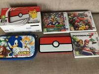 Nintendo 2DS XL like new with box with games, case etc