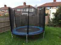 8ft Trompoline with Full Height Safety Net