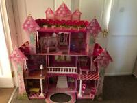 Huge dolls house with furniture