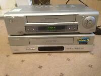 Philips VHS Player & Recorder, 2 pieces together. Cheap Bargain Price to clear