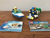 Lego City boat and garbage set