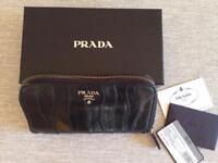Black leather Prada purse, genuine