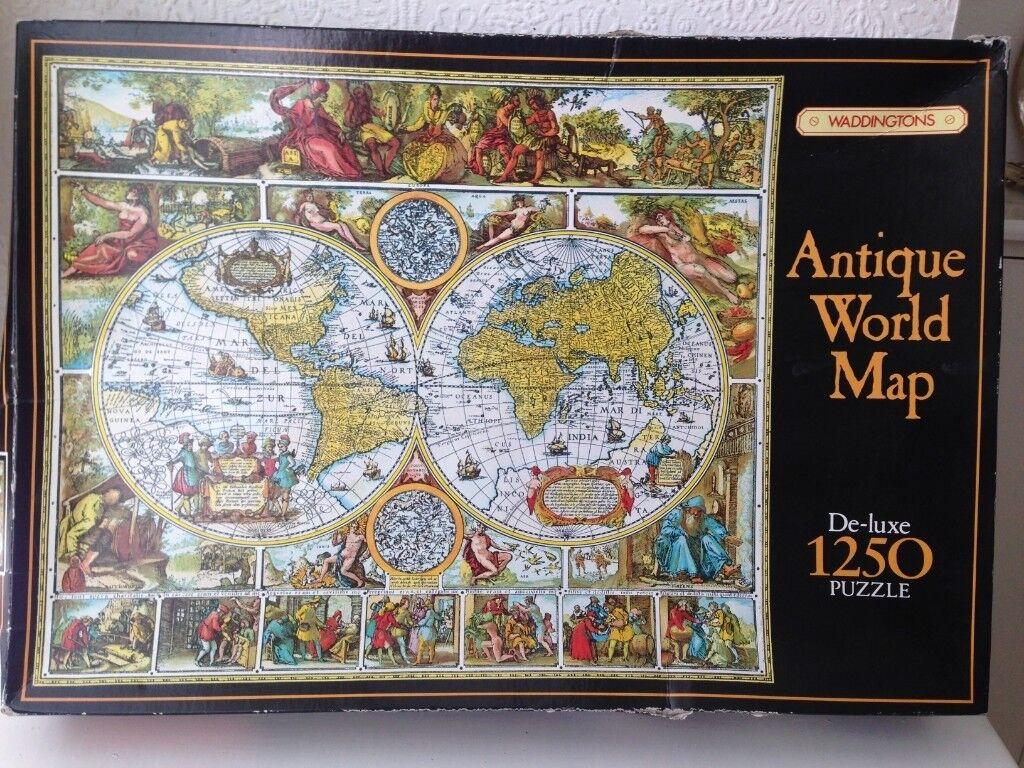 Waddingtons Antique World Map De Luxe 1250pc Jigsaw