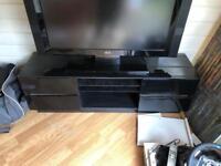 Black high gloss TV media unit / stand