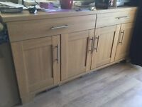 Wooden sideboard and c/d cabinet