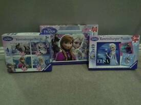 Frozen jigsaws (3 off)