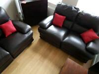 leather sofas. Two 2 seat recliners