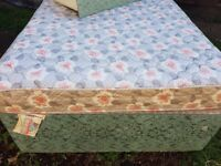 Double divan bed with mattress and drawer
