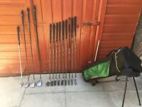 Focus Graphite Shafted Irons 3-SW, Ben Sayers 1, 3 & 5 Wood, Putter & Golf Bag