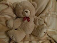 Large, soft and huggable teddy bear