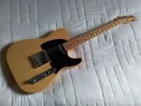 Fender classic player Baja telecaster guitar with fender gig bag. Great condition