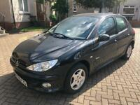 1 year mot Peugeot 206 1.4 verve 5 door low miles 64000 FSH