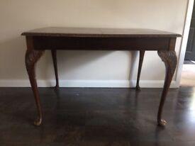Hardwood wood antique table