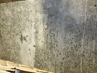 3sqm Ceramic tiles 250x500mm (20x50cm) - concrete/light grey/faint green pattern