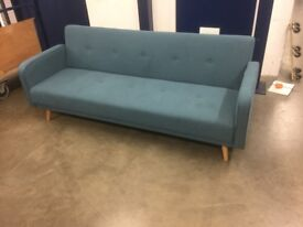 New! Made . com Chou Sofa Bed in Sherbert Blue - Delivery Available!