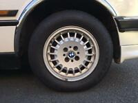 "Set of 4 BMW E30 14"" 3 Series alloy wheels genuine with Tyres Goodyear Bridgestone 4x100 325 320 318"
