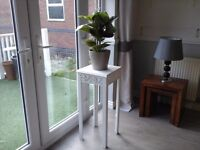 Tall indoor plant table