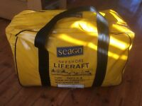 4 person Seago Valise Liferaft for sale.