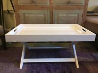 Habitat White Folding Coffee Table