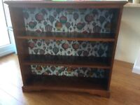 Bookcase in dark wood. 3 shelves. Ideal for stripping or painting.