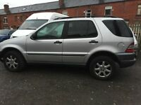 1999 MERCEDES ML 320 AUTO SILVER 8 months mot drives well 7 seater mpv automatic